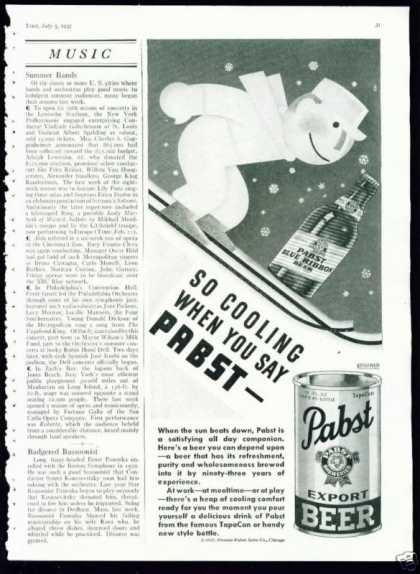 Skier In Cute Pabst Export Beer In Tapacan (1937)