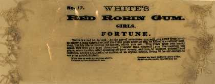 White Co.'s Red Robin Gum – White's Red Robin Gum