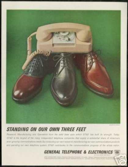 GTE Telephone Rotary Phone Jarman Shoe (1963)
