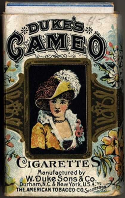 W. Duke Sons & Co.'s Duke's Cameo Cigarettes – Duke's Cameo Cigarettes