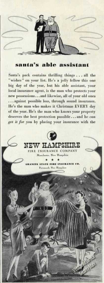 New Hampshire Fire Insurance Santa's Assistant (1946)