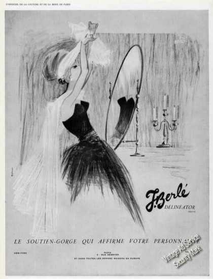 T. Berle Delineator Le Soutien-gorge French Ad/art (1965)