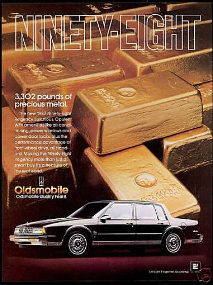 Oldsmobile 98 Ninety-Eight Regency Gold Bars (1987)