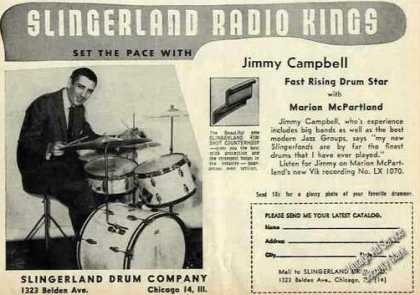 Jimmy Campbell Slingerland Radio Kings Drums (1957)