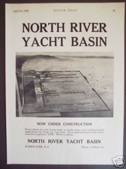 North River Yacht Basin Egdewater Nj Photo (1928)
