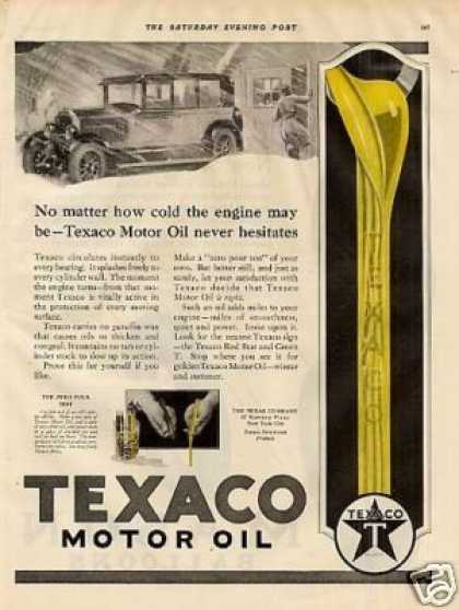 Texaco Motor Oil Ad 2 Page (1927)