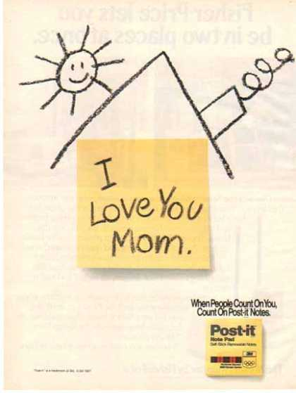 Post-It – 3M – I Love You Mom (1987)