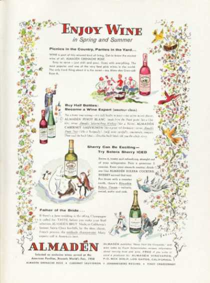 Almaden California Wine Bottle (1959)