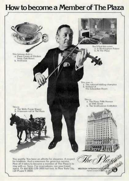 How To Become Member the Plaza Violin Player (1975)