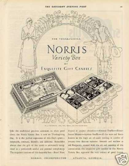 Norris Variety Box Candy (1925)