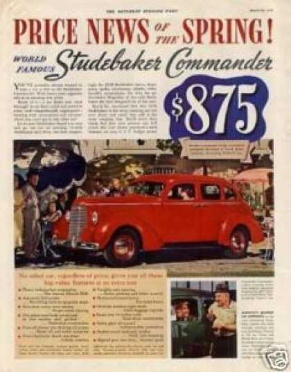 Studebaker Commander Car Color (1938)