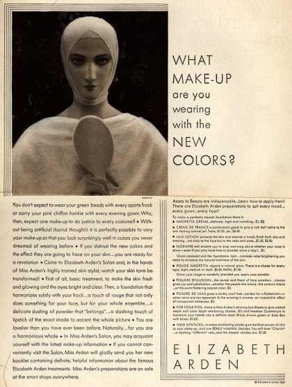 Elizabeth Arden – What Make-Up are you wearing with the New Colors? (1931)