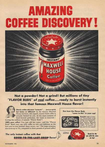 Maxwell House Instant Coffee (1953)