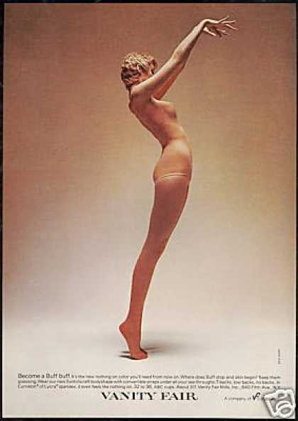 Vanity Fair Sexy Woman Buff Spandex Lingerie (1973)
