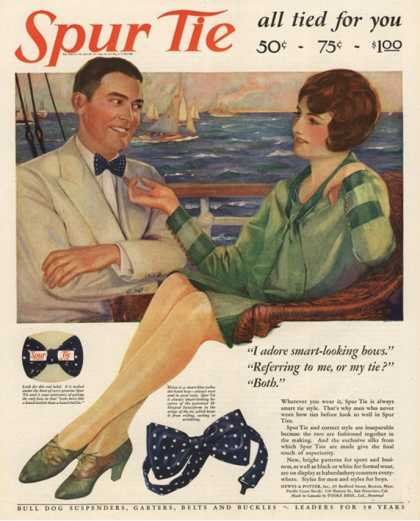 Spur Bowties Couples Bow-Ties Bow Ties Clothing Clothes, USA (1927)