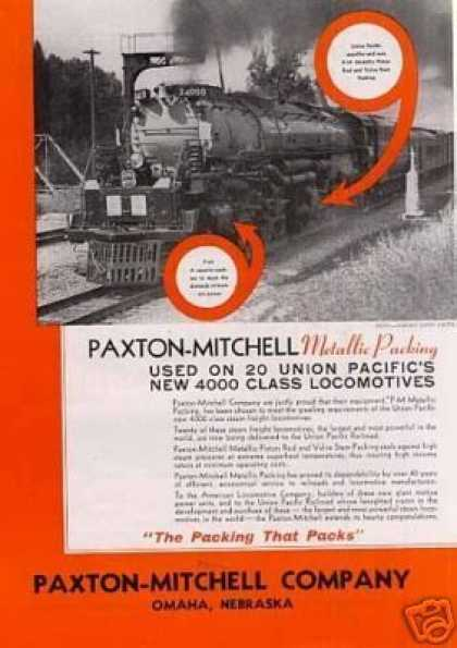 Paxton-mitchell Ad Union Pacific Alco Big Boy (1941)