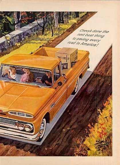 Chevrolet Truck Ad 2 Page (1960)