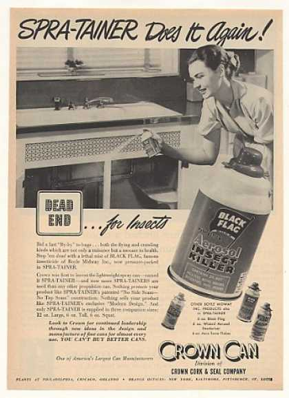Black Flag DDT Insect Killer Crown Can (1952)