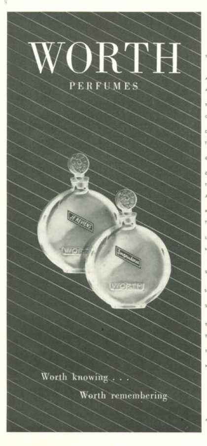 Worth Je Reviens Imprudence Bottle Perfume (1945)