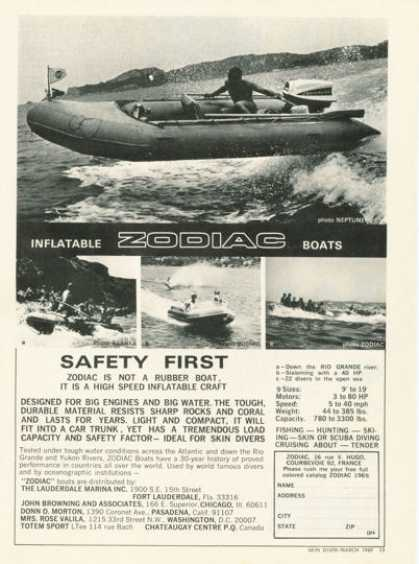 Zodiac4 Models Inflatable Boat (1969)