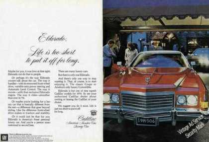 "Cadillac Eldorado ""Life Is Too Short"" Large (1974)"