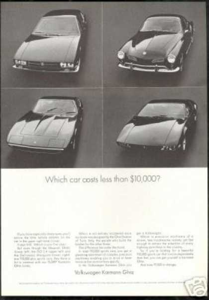 VW Volkswagen Karmann Ghia Which Costs Less (1968)
