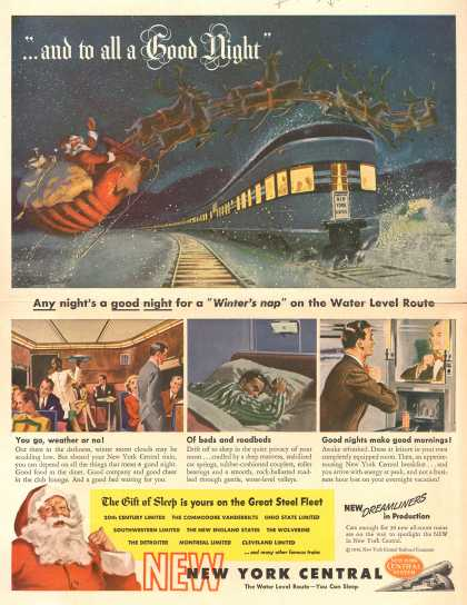 "New York Central Railroad Company's Sleeper Cars – ""...and to all a Good Night"" (1946)"