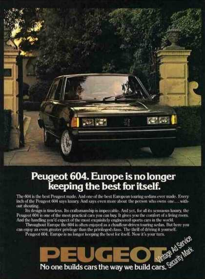 "Peugeot 604 ""Europe No Longer Keeping the Best"" (1978)"