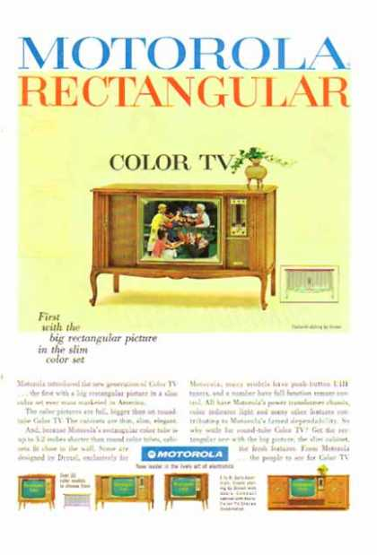 Motorola – Rectangular Color TV – 1960's styling by Drexel (1965)