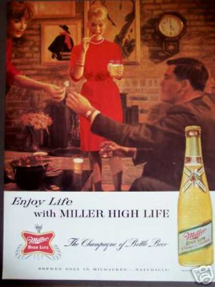 Cocktail Party Miller High Life Beer Bar Art (1963)