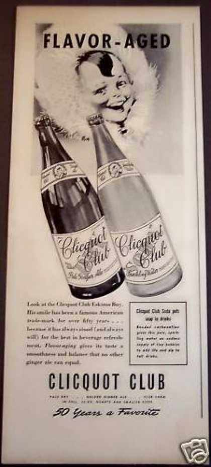 Clicquot Club Sparkling Water, Ginger Ale Drink (1939)