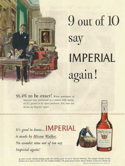 91.4% Repeat Purchasers Imperial Whiskey A (1948)