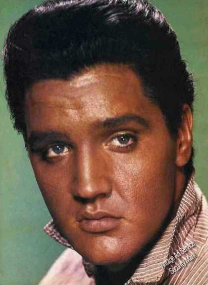 Elvis Presley Closeup Magazine Print Photo (1981)