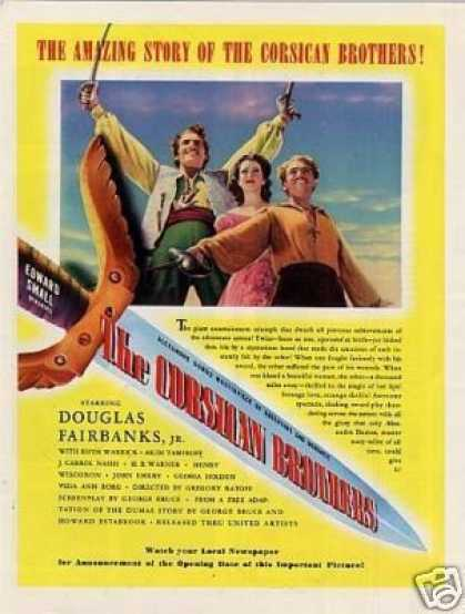 "Movie Ad ""The Corsican Brothers"" D. Faribanks, Jr. (1941)"