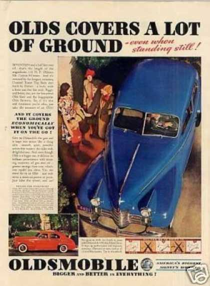 "Oldsmobile Car Ad ""Olds Covers a Lot... (1940)"