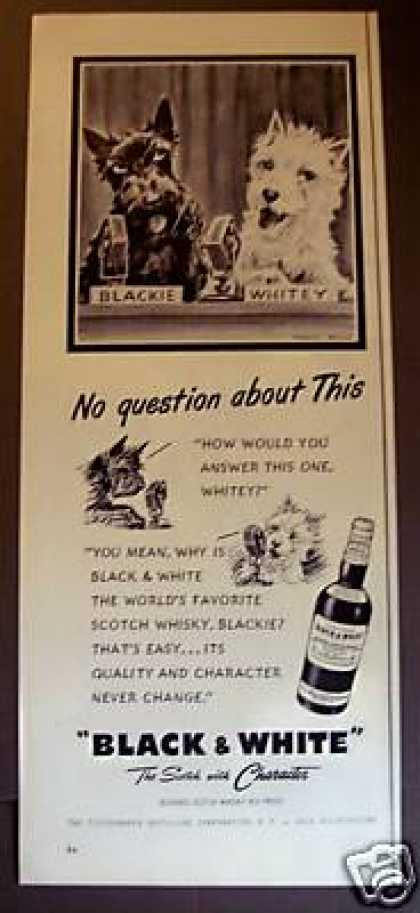 Scottie Dogs On the Radio Black & White Scotch (1955)