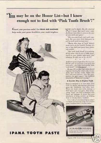 """Ipana Tooth Paste Ad """"You May Be On the Honor... (1940)"""