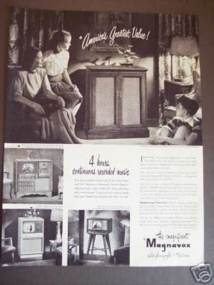 Magnavox Radio Phonograph Tv Television Photo (1949)