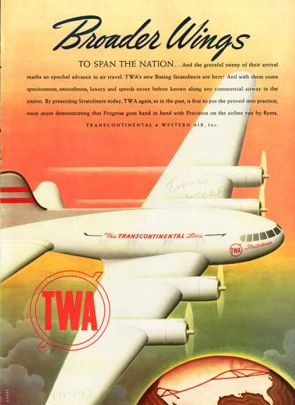 Transcontinental & Western Air's Stratoliner – Broader Wings To Span the Nation (1940)