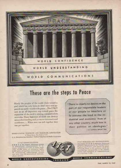 IT&T International Telephone & Telegraph – Steps to Peace (1948)