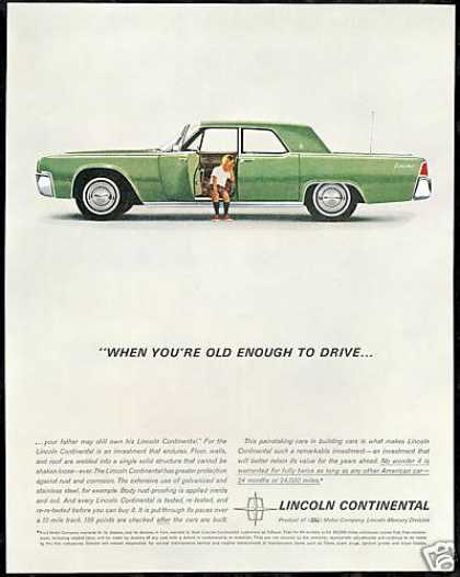Green Lincoln Continental Car Photo Vintage (1962)