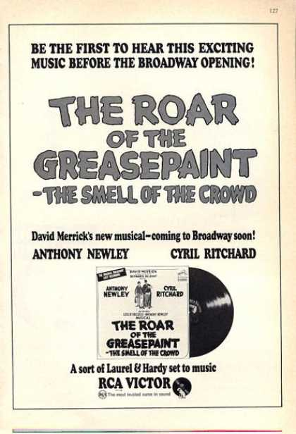 Rca Musical the Roar of the Greasepaint (1965)
