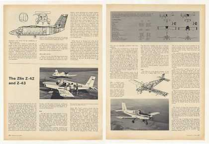 Zlin Z-42 and Z-43 Light Aircraft 2P Photo Article (1969)