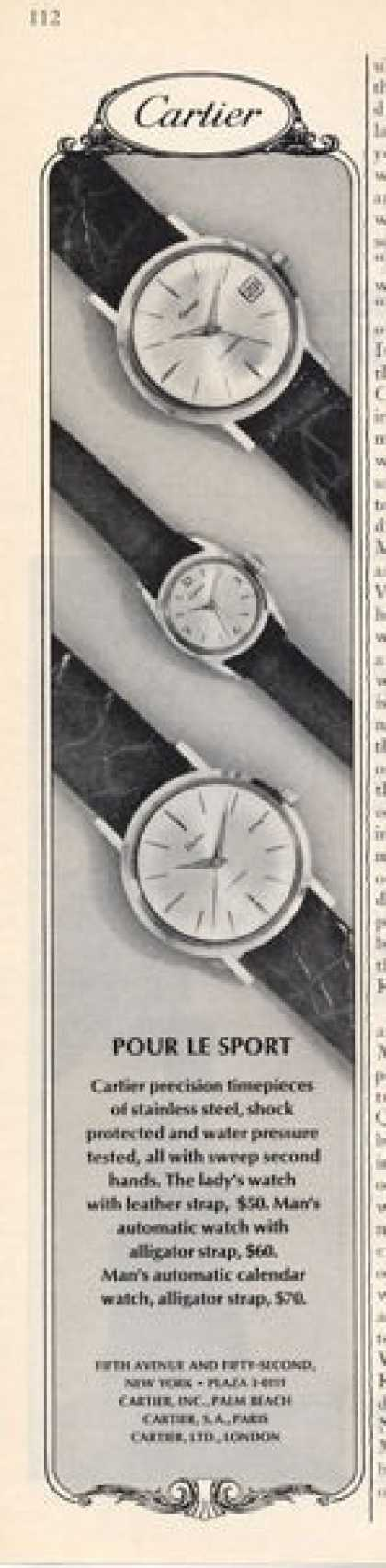 Cartier Watch Ad Three Models (1965)