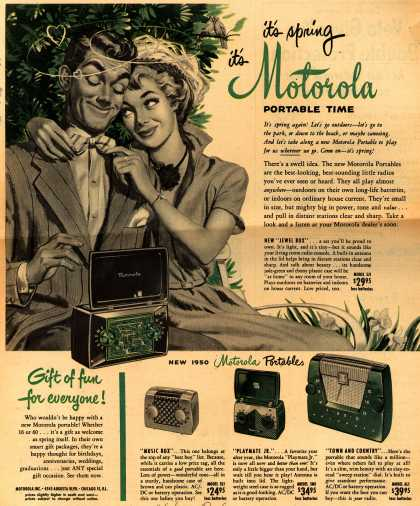 Motorola – it's spring, it's Motorola Portable Time (1950)