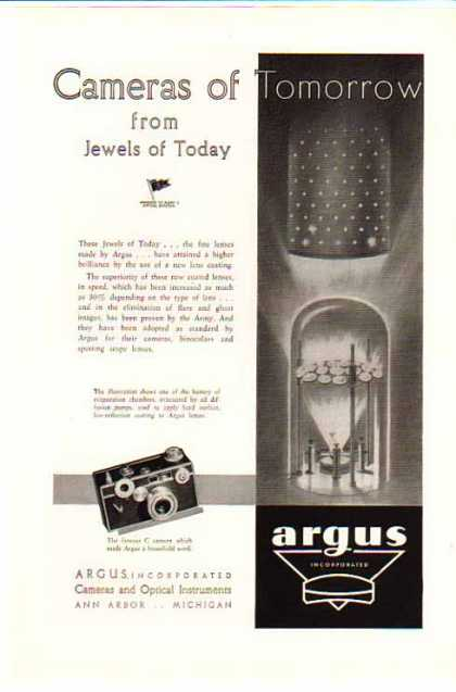 Argus C Camera – Cameras and Optical Instruments (1948)
