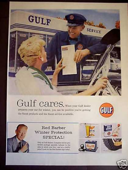 Gulf Oil Auto Sevice Station Red Barber (1959)