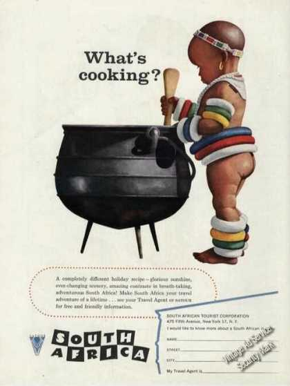 South Africa What's Cooking? Bare Butt Kid (1956)