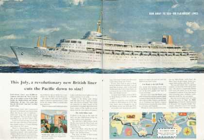 Orient & Pacific Liners Canberra Cruise Ship (1961)