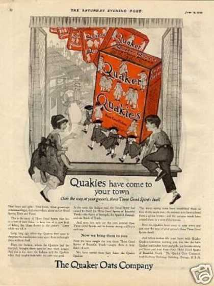 Quaker Quakies Corn Flakes Color (1920)
